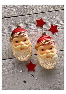 Thüringer Glasdesign Set: TGS-Christbaumschmuck Santa Gesicht »Advent« (2tlg.) im Universal Online Shop