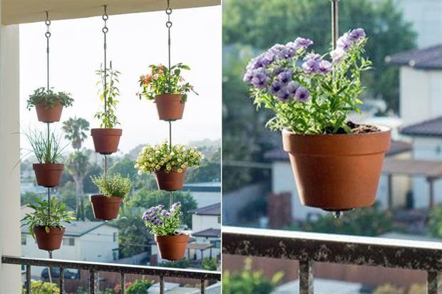 Cinco formas de darle vida a tu balcón  ¿Fea vista? Podés cambiarla con algunas plantas colgantes que, además, sumen color al espacio.         Foto:Estilo.catracalivre.com.br
