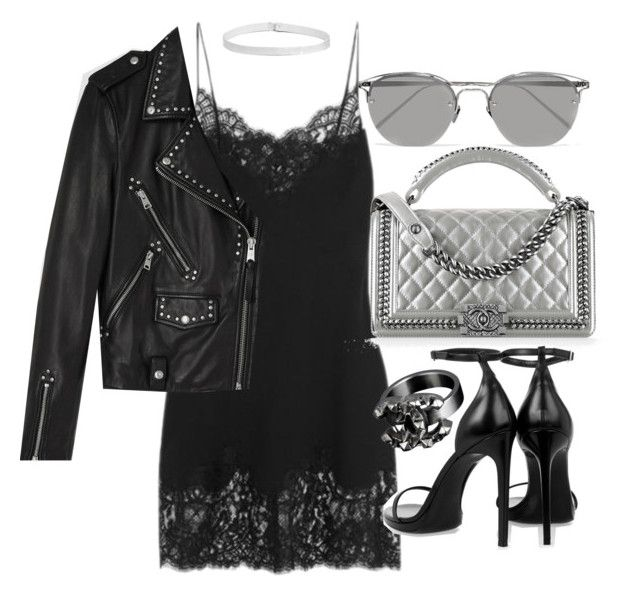 """""""Untitled #20275"""" by florencia95 ❤ liked on Polyvore featuring Givenchy, Chanel, AllSaints, Yves Saint Laurent, Linda Farrow and Boohoo"""