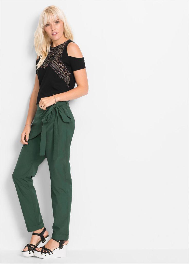 Commandez maintenant Pantalon vert foncé - RAINBOW à partir de 28,99 ? sur bonprix.fr. Léger effet portefeuille et fermeture zippée dissimulée sur le côté. ...
