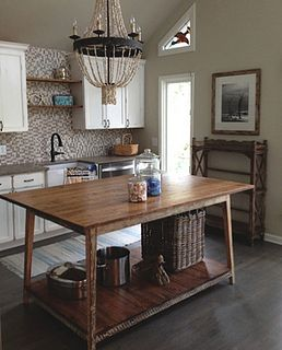 Kitchen Island By Landrum Tables Charleston SC My Idea Of A Work Table Looks Great