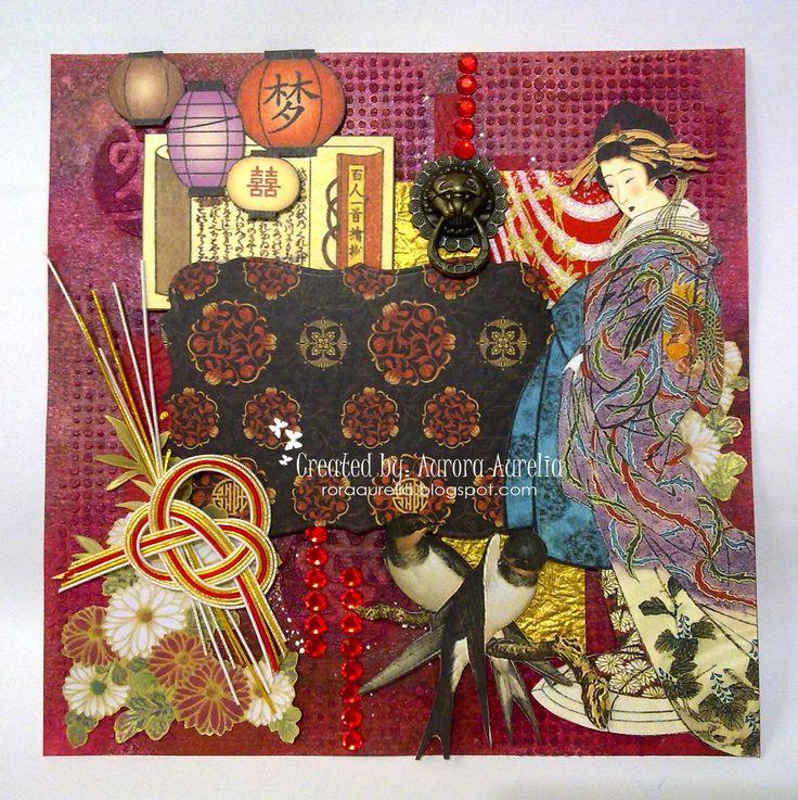 #birdsongg45 #graphic45 #mizuhiki #photoframelayout #orientalpapercraft #mixmedia