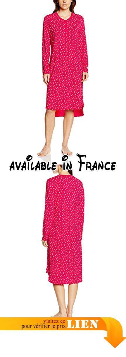 Seidensticker Nachthemd 1/1, 100cm, Chemise de Nuit Femme, Rouge-Rouge (500), 40.  #Apparel #SLEEPWEAR