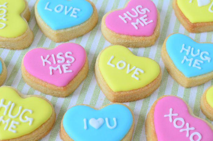 Harten koekjes met lieve boodschap 3a
