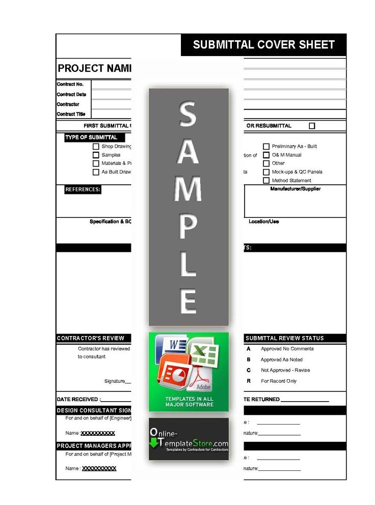 Material Drawing Sample Document submittal form in excel  Project Management Templates