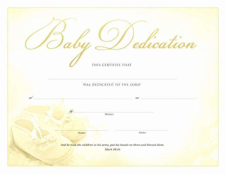 Baby Dedication Certificate Template Free New Baby Dedication