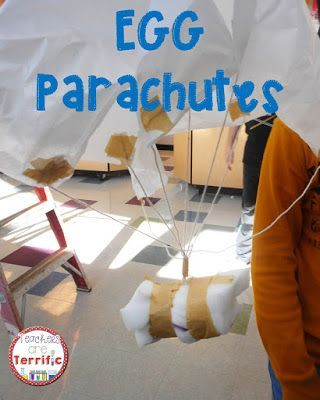 Parachutes a science experiment