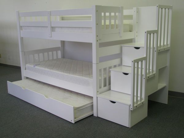 1000 Ideas About White Bunk Beds On Pinterest Girls