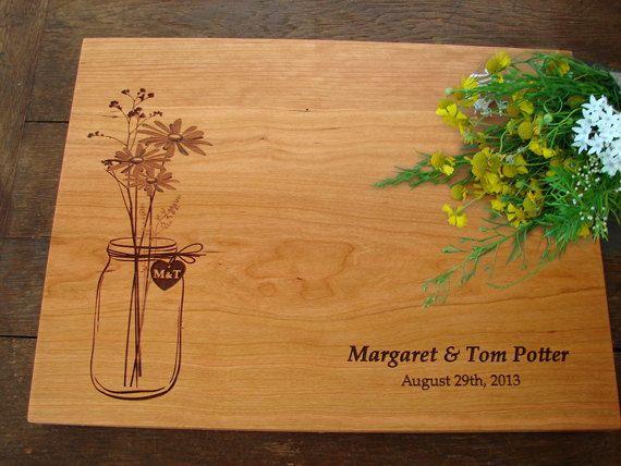 Rustic Mason Jar Custom Cutting Board by TheCuttingBoardShop