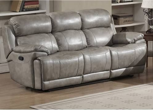 AC Pacific Estella Collection Contemporary Upholstered Leather Recliner Sofa with Dual Recliners Gray & Best 25+ Grey reclining sofa ideas on Pinterest | Comfy sectional ... islam-shia.org