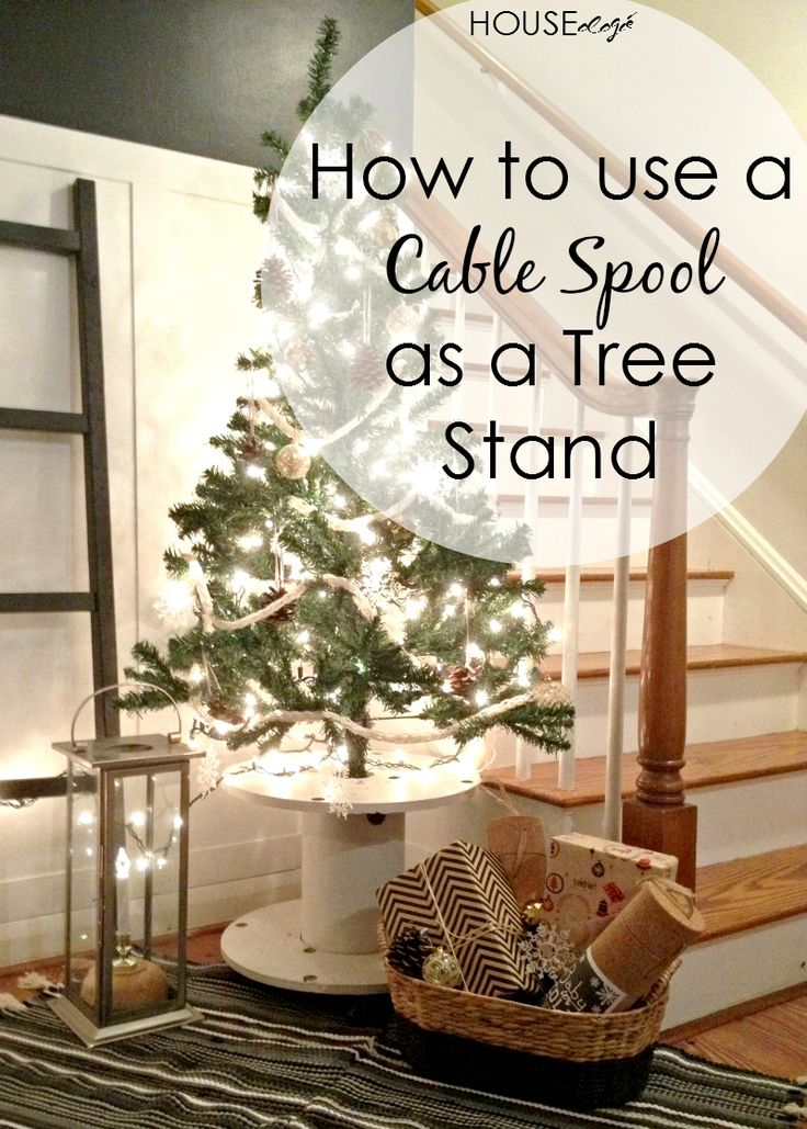 What a cool idea! Cable Spool Christmas Tree Stand!