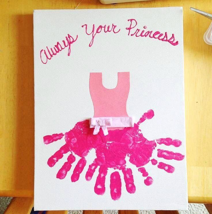 Handprint Canvas Accomplished Crafts Diy Mother S Day