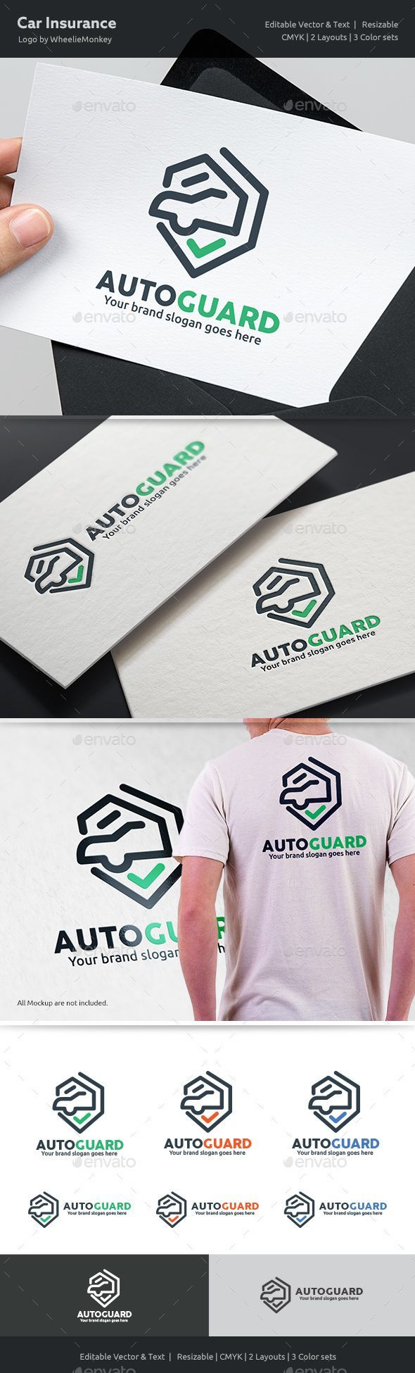 Car Insurance Logo by WheelieMonkey Files format : EPS 10, EPS CS, EPS CS4, EPS CS6, AI CS4 Color mode : CMYK Resolution : 300PPI Resizable Free used font links