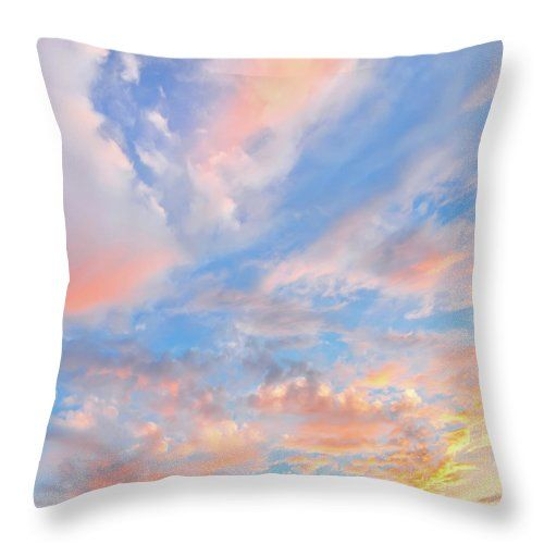 "Vanilla Sky Throw Pillow by Jane Star.  Our throw pillows are made from 100% spun polyester poplin fabric and add a stylish statement to any room.  Pillows are available in sizes from 14"" x 14"" up to 26"" x 26"".  Each pillow is printed on both sides (same image) and includes a concealed zipper and removable insert (if selected) for easy cleaning."