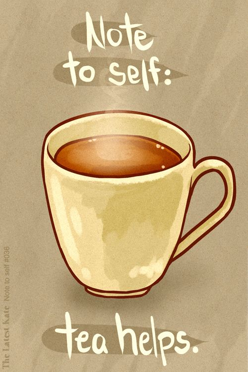 Tea Art Print, Tea Quote | Oh yes, tea always helps! :)