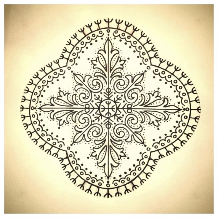 traditional croatian/bosnian tattoo pattern