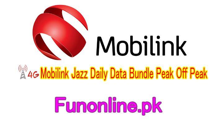 Mobilink Jazz Daily Data Internet Bundle Peak Off Peak Details