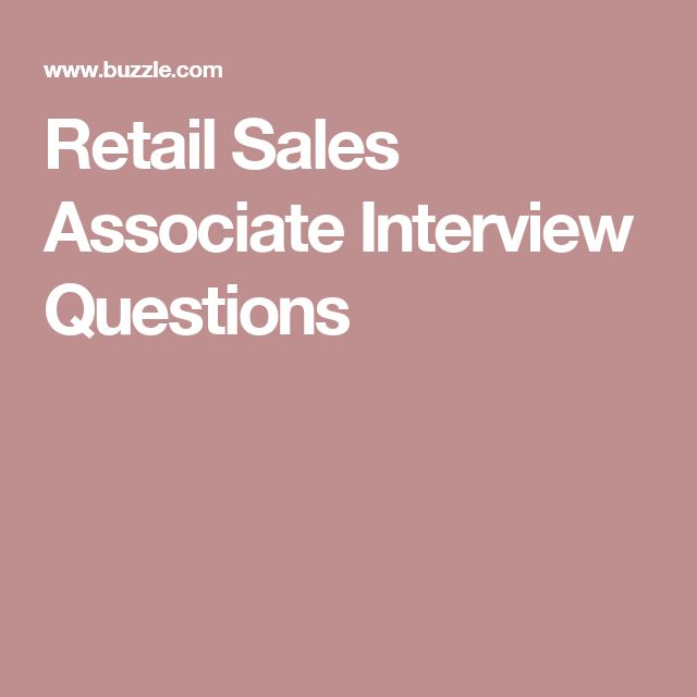retail sales associate interview questions - Sales Associate Sales Assistant Interview Questions And Answers