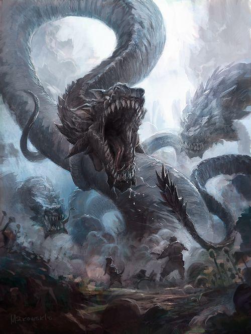 Snakes Small by Msekowsk!08 - Hydra, caos, snake, fantasy - Art of Fantasy