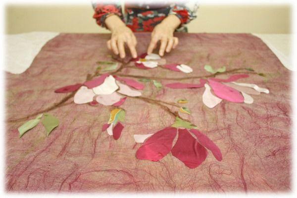 Весеннее пробуждение: декорируем изделия из войлока шелковыми лоскутами - Ярмарка Мастеров - ручная работа, handmade