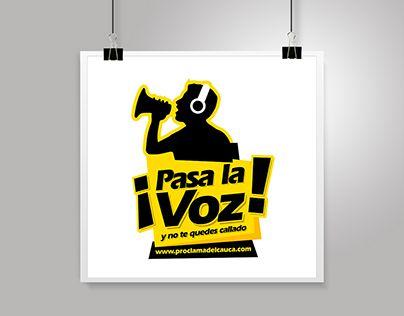 """LOGOTYPE """"PASA LA VOZ"""" Proclama del Cauca"""