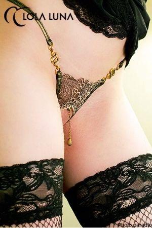 Mini String Ouvert pour Travesti Lola Luna Eve