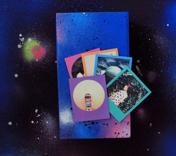 DIY galaxie : la box à polaroids – Poulette Magique