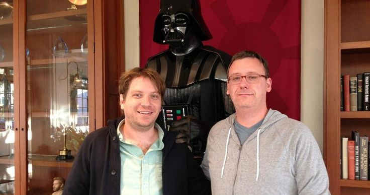 'Star Wars' Spin-Off Team Meets Their New Boss Darth Vader -- A 'Star Wars' pre-production photo finds director Gareth Edwards and writer Gary Whitta about to embark on a journey in a galaxy far, far away. -- http://www.movieweb.com/news/star-wars-spin-off-team-meets-their-new-boss-darth-vader