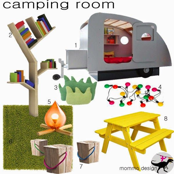 mommo design: MOODBOARD - CAMPING ROOM