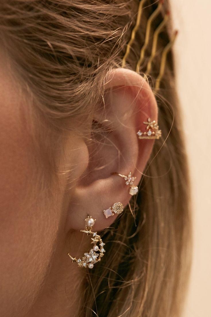 Rue Gembon Sailor Gold Earrings