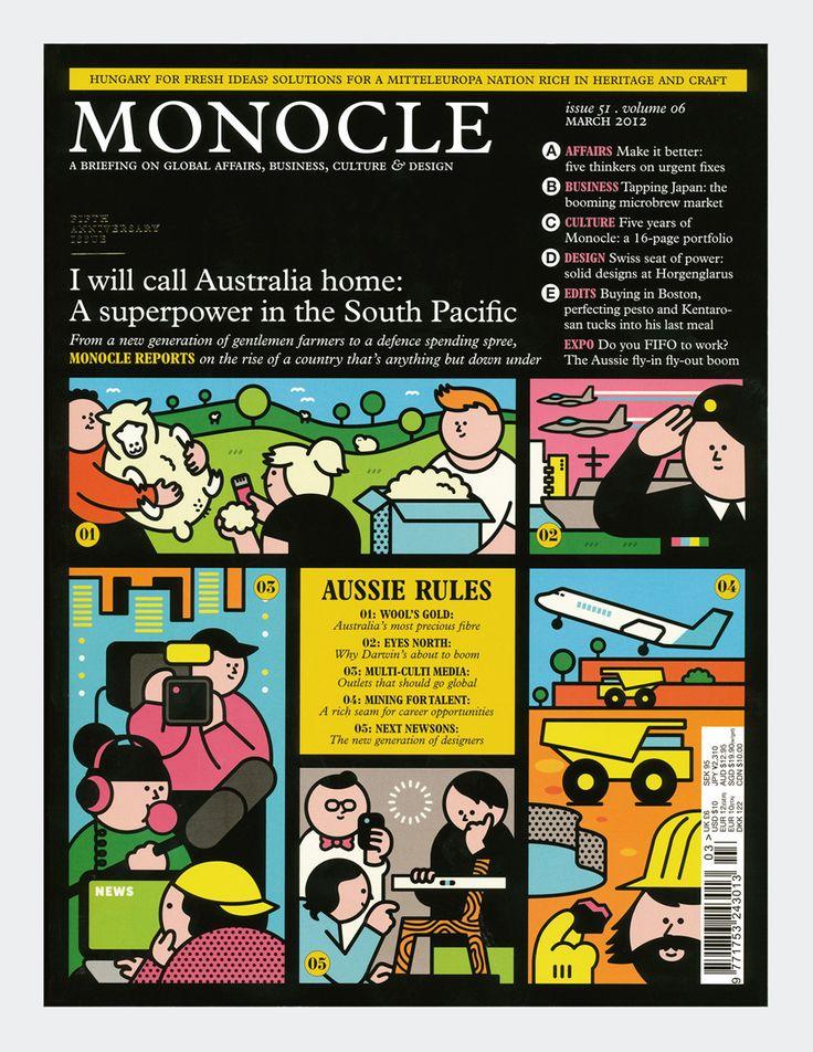 Monocle Magazine. Illustration by Rami Niemi