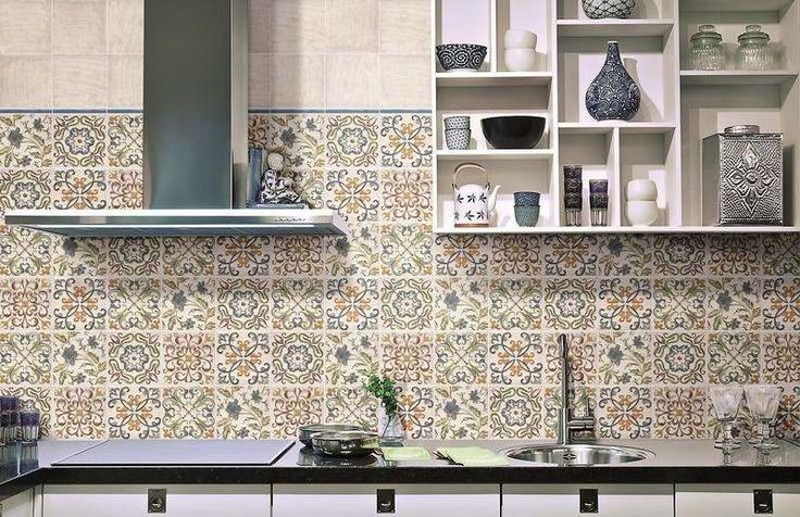 crédence cuisine en carreaux de ciment de style zellige marocain, Pavigres