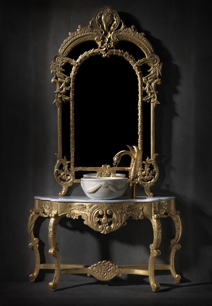 luxury bathoom design - baroque - swan - bronces mestre