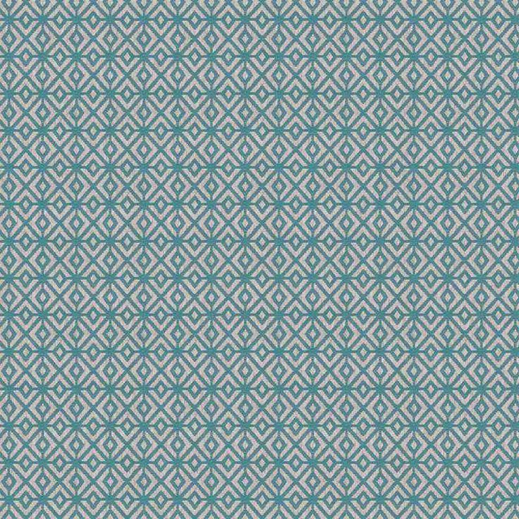 Warwick Fabrics : BOLTON, Colour AQUA