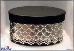 Caja decorada con aluminio. www.manualidadespinacam.com #manualidades #pinacam #estaño #aluminio