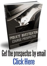 Private Investigation course brochure
