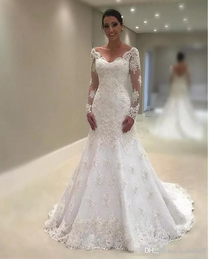Image Result For Long Sleeve Mermaid Style Wedding Dresses Long Sleeve Wedding Dress Lace White Lace Wedding Dress Lace Wedding Dress With Sleeves,Burgundy Winter Wedding Bridesmaid Dresses