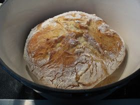 No-knead bread. No need to hurry, just train your patience.