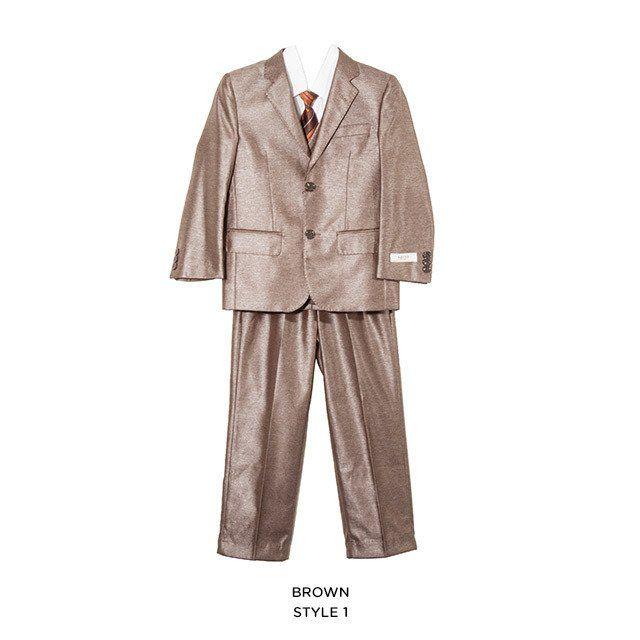 5-Piece 2-Button Boys' Suit - Assorted Colors