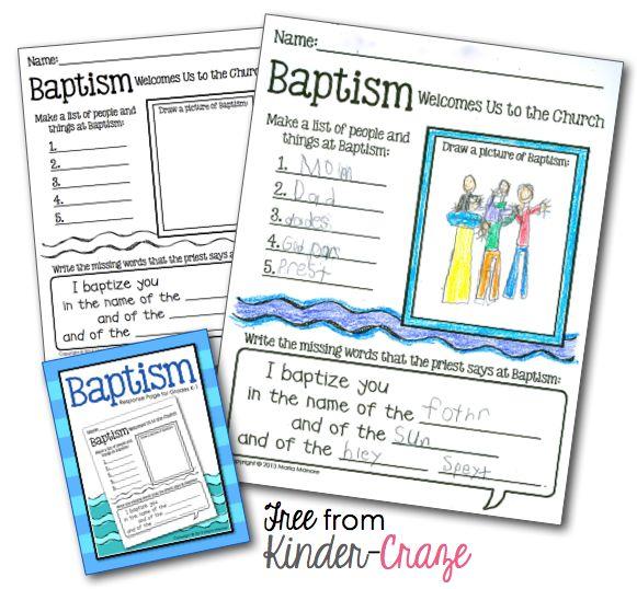 Catholic Worksheets For Kindergarten : Celebrating baptism and a really great freebie
