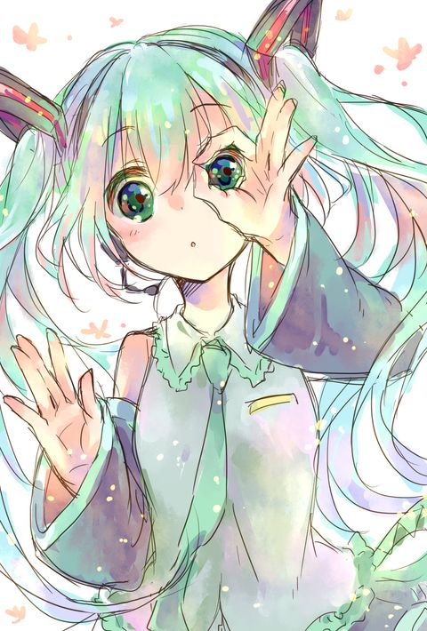 Anime. Anime Girl. Hatsune Miku. Kawaii. Vocaloid. Blush