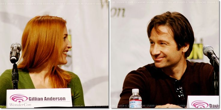 """""""To me, the chill down my spine came when I first saw David and Gillian read the script at Chris's house in Malibu — we had a table read, just the four of us. That was just amazing to me. They've been leading separate lives all this time, and yet there's this undeniable chemistry between the two of them. It had not gone away… it was powerful."""" (Frank Spotnitz, July 2008) Mulder Scully The X-Files"""