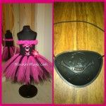 Pirate princess with eye patch (pink black) - a fabulous Halloween fancy dress outfit. Please enquire for prices.by Monika's Magic Craft