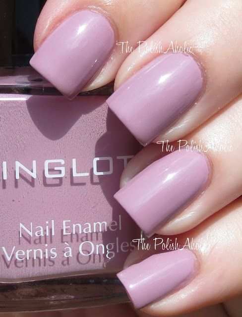 Inglot Spring 2013 Pastel Collection Swatches, 386 is a taupe/purple.
