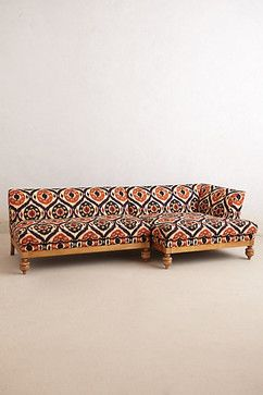 Ogee Ikat Sectional Sofa - eclectic - sectional sofas - Anthropologie