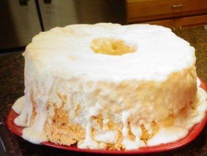 Angel Food Cake with Creamy Glaze   Tasty Kitchen: A Happy Recipe Community!