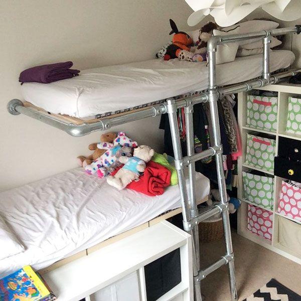 DIY Bed Frame. Selbstgemachte BettrahmenBettgestelleTeenager  SchlafzimmerMöbel Aus RohrenKinderbettenEtagenbettRohre