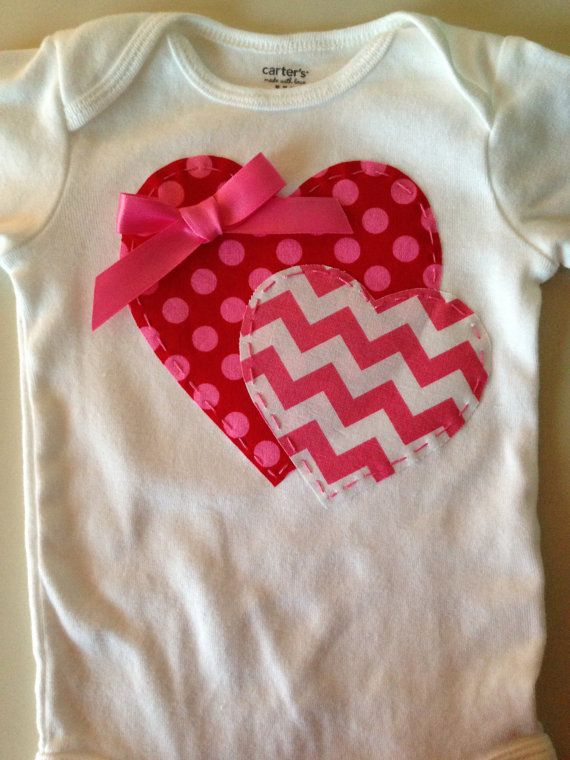Valentines Day Heart Onesie by HighAltitudeCrafting on Etsy,