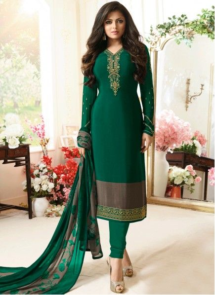 ee7896fa9f Drashti Dhami Green Churidar Designer Suit in 2019 | Desi Fashion ...