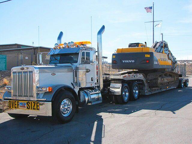 Peterbilt Heavy Haul Volvo Trackhoe Heavy Haul